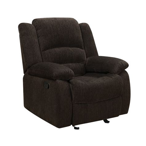 coaster recliners coaster fabric recliner in brown 601463