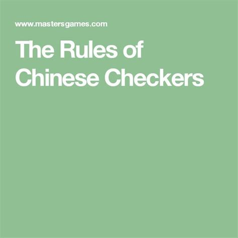 printable directions for checkers the rules of chinese checkers activities pinterest