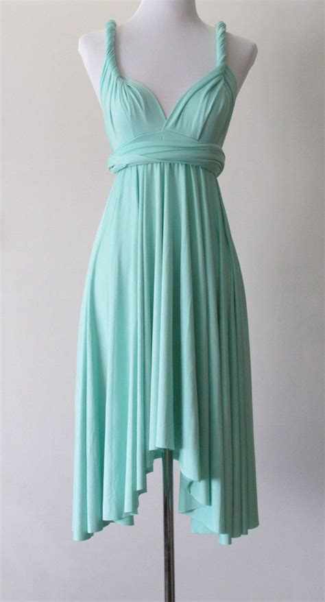 mint green infinity dress summer day dress convertible dress in mint green infinity