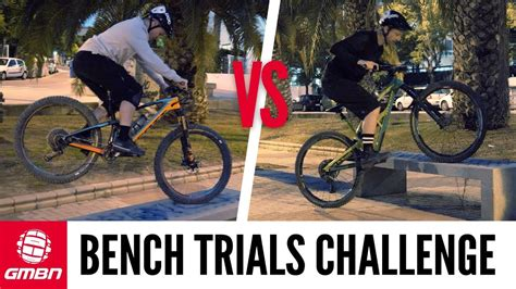 bench trials park bench trials challenge mountain bike skills youtube