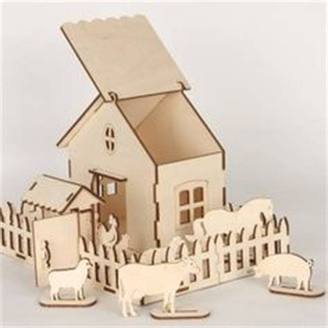 Small Wooden Houses Free Vector Templates For Laser Cut Cartonus Laser Cut Deas Laser Cut House Template