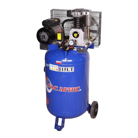 100 liter vertical belt drive compressor 2 2kw 3hp space saver adendorff machinery mart