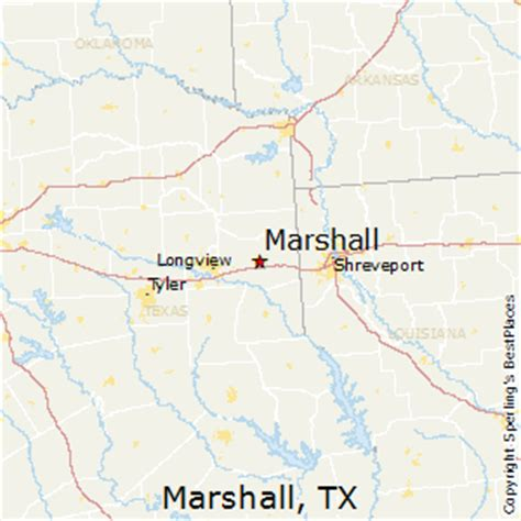 where is marshall texas on the map best places to live in marshall texas