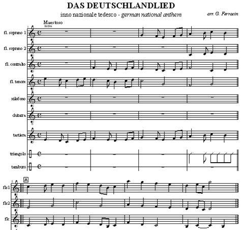 inno tedesco testo inno nazionale germania