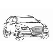 Desenho De Audi Para Colorir  Desenhos Carros
