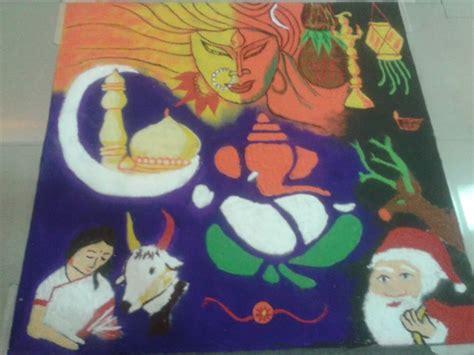 rangoli theme unity rangoli designs collection for any festival