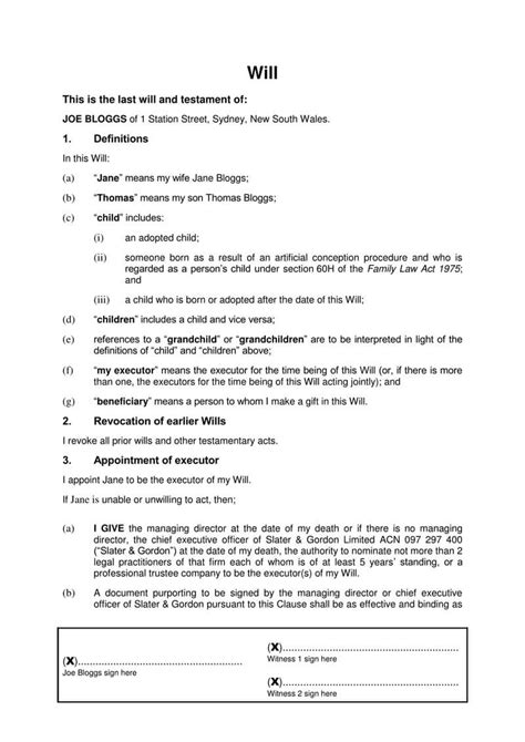 Free Last Will and Testament Forms and Templates (Word, PDF)
