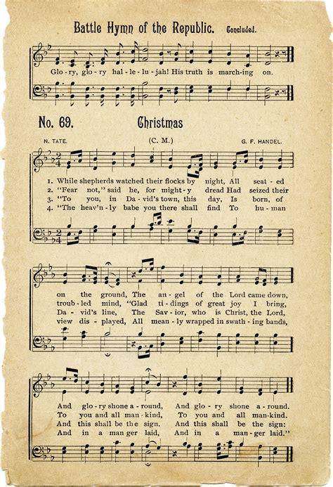 printable christmas hymns vintage hymns sheet music old design shop blog