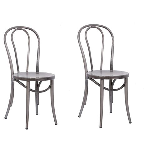 Distressed Bistro Chair Outdoor Patio Smith Hawken Metal Balcony Height Bistro Chair Set Of 2 Find It At Shopwiki