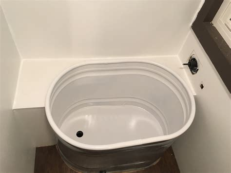 horse trough bathtub finishing bathtub install choo choo tiny house