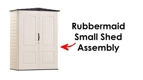 rubbermaid shed assembly instructions