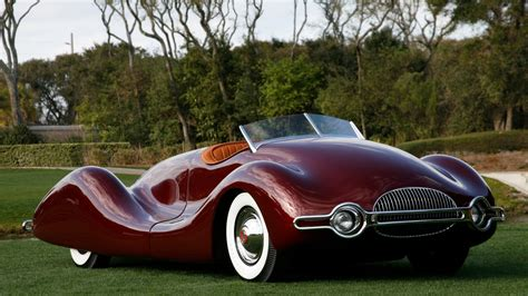 Full HD Wallpaper buick streamliner coupe retro unusual cabriolet park, Desktop Backgrounds HD 1080p