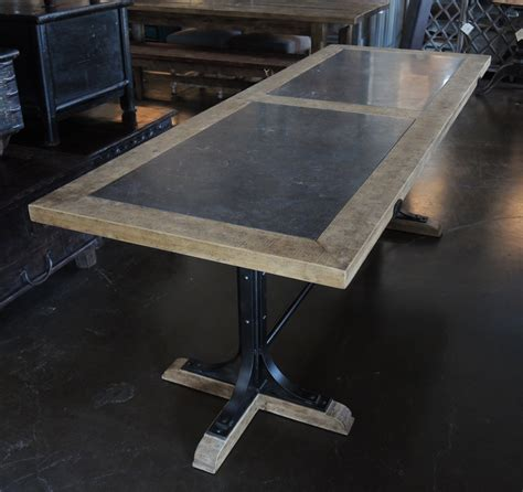 wood and granite dining table dining table with top and iron base dining tables