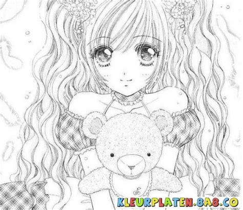 imagenes para pintar anime kleurplaten anime manga meisje kleurplaten anime