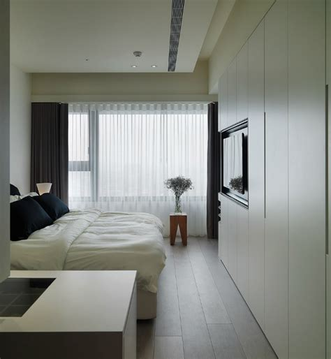 modern asian bedroom white built in wardrobes interior design ideas