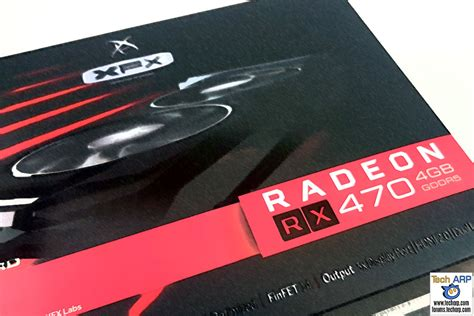 xfx rx 470 black edition the xfx radeon rx 470 rs black edition review tech arp