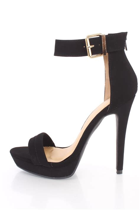 shoes with heels black ankle open toe casual heels nubuck