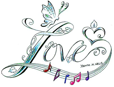 quot love song quot tattoo design by denise a wells flickr