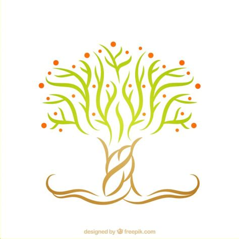 tree logo vector free abstract tree logo vector free