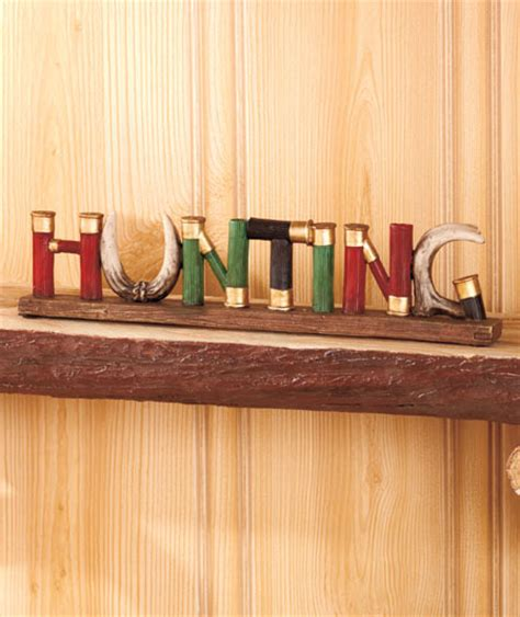shell home decor hunting word sign shotgun shell home decor hunter gun