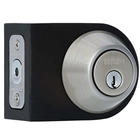 kwikset 980 series single cylinder satin nickel deadbolt