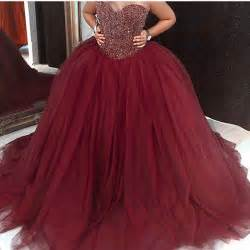 burgundy quinceanera dresses aliexpress buy 2017 burgundy quinceanera dresses with heavy beadings crystals sweetheart