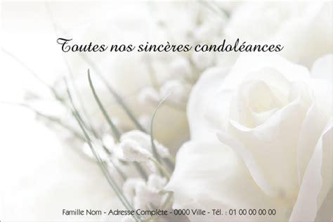 Modeles De Lettre De Condoleances Gratuites Carte De Condol 233 Ances Gratuite Mod 232 Le De Lettre