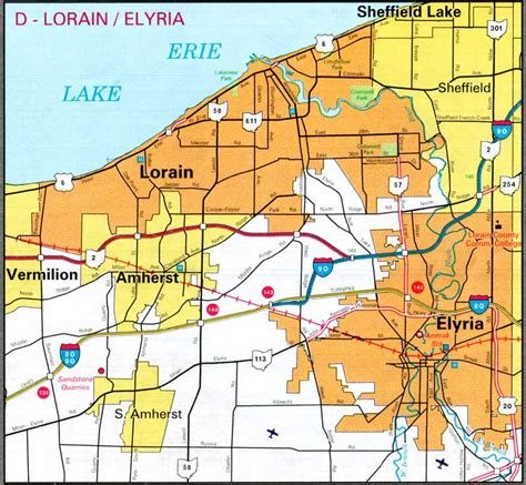 map of lorain ohio pages 2007 2009 ohio transportation map archive