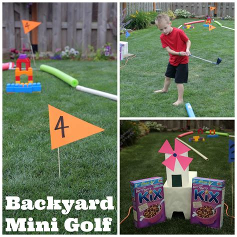 fun things to build in your backyard outdoor fun backyard mini golf course 183 kix cereal
