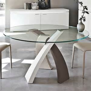 tonin casa eliseo 8028 dining tables round top glass
