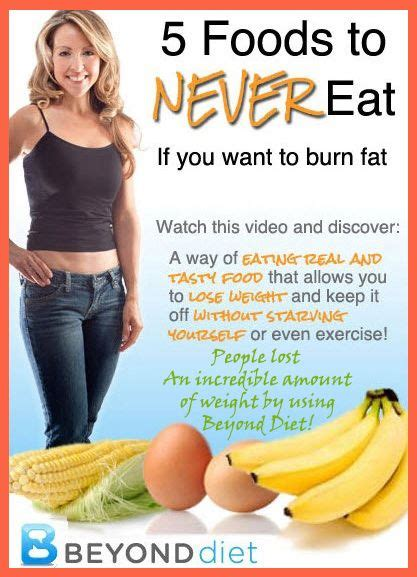 Eat Lose Weight by Beyond Diet And 5 Foods You Should Never Eat If You Want