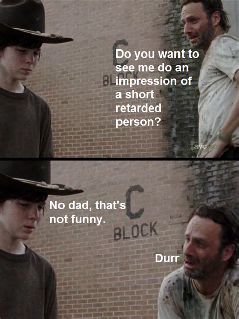 Walking Dead Meme Rick Crying - retarded rick the walking dead know your meme