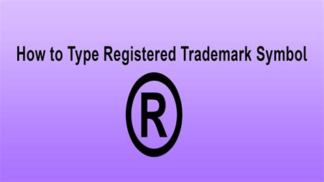 how to type registered trademark symbol type symbol by