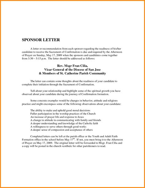 thank you letter to for confirmation thank you letter to for confirmation 28 images sponsor