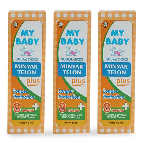 B26 My Baby Minyak Telon Plus 60ml my baby paket hemat minyak telon plus longer protection 60ml 3pcs mtk040 elevenia
