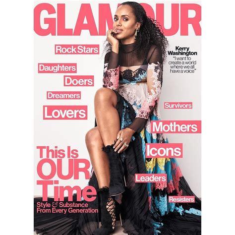 Glamour Magazine Giveaways - kerry washington covers glamour magazine