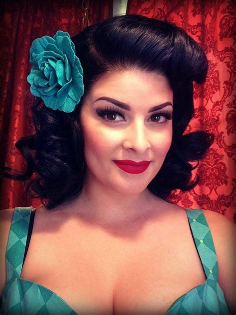 pinup style hair weave gorgeous cherry velvet model stela licina watch cherry