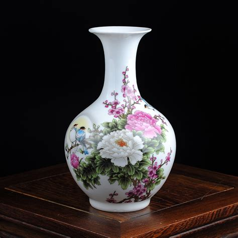 Pottery Flower Vases by Jingdezhen Traditional Ceramic Vase Pastel Flower Rich