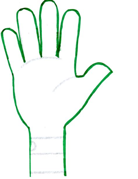 handprint template print template clipart best
