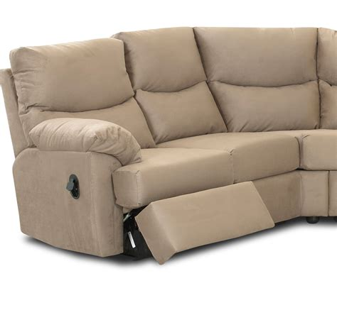 Klaussner Bristol Reclining Sectional Sofa Set Microsuede Reclining Sofa