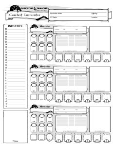 dnd 5th edition template 3x5 card dnd 5e encounter sheet crit
