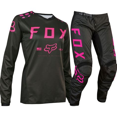 ladies motocross gear fox 2017 mx ladies new 180 black pink jersey pants womens