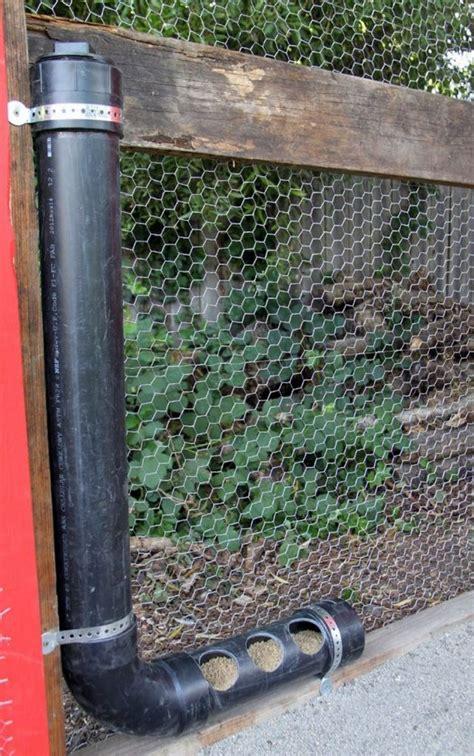 build  inexpensive chicken feeder  pvc