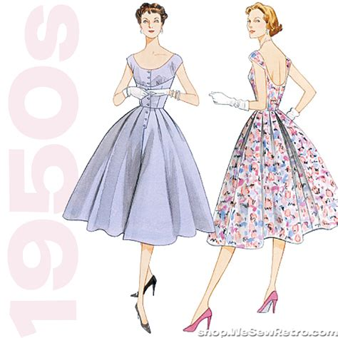 dress pattern vintage vogue 1950s vintage vogue v2960 misses dress sewing pattern