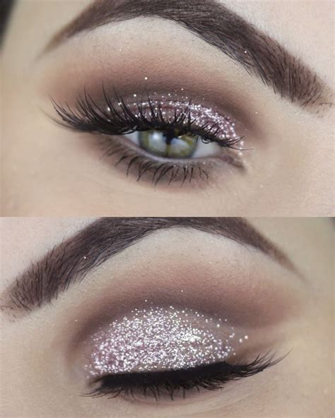 Eyeshadow Glitter Make Best 25 Glitter Makeup Tutorial Ideas On