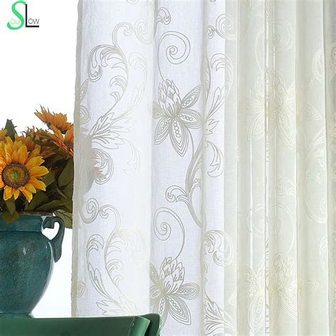 white embroidered curtains white 3d curtains embroidered sheer curtains flowers