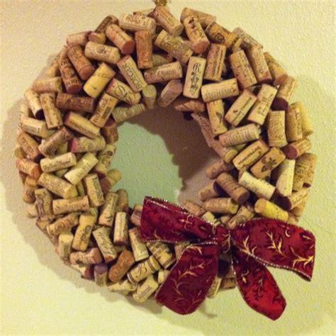 wine cork wreath craft ideas