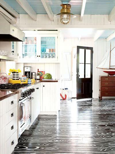 painted kitchen floor ideas faux bois floor design crush