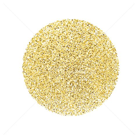Pash Gliter Circle With Gold Glitter Particles On White Background