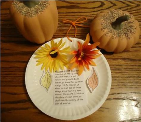 Paper Plate Fall Crafts - fall crafts for sunday school